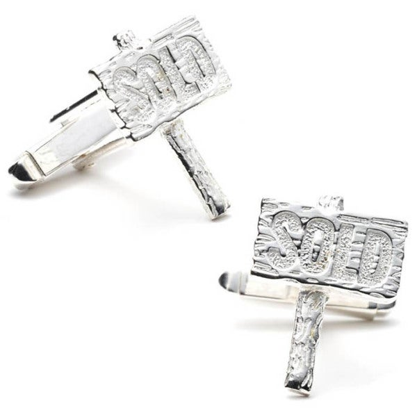 Sterling Silver Realtor Cufflinks