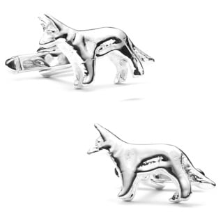 Sterling German Shepherd Cufflinks