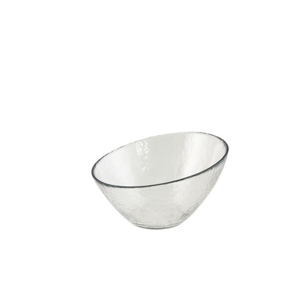 Hammered Glass 7.25-inch Angled Bowl (Set of 6)