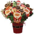 Santa's Christmas Cookie and Candy Bouquet Gift Basket