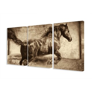 Stupell Home Galloping Horse 3-piece Canvas Art Set Triptych