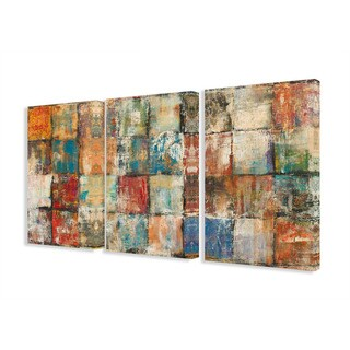 Family Tree Abstract Multi-colored 3-piece Canvas Art Set Triptych