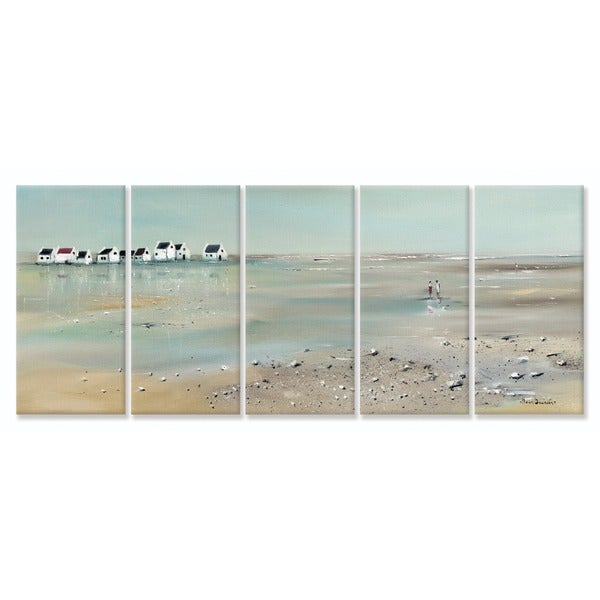 A Stroll Down On The Beach' 5-piece Canvas Wall Art Set