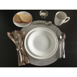 Corelle Livingware 38 piece Set, Service for 12, Winter Frost White