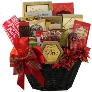 Deck the Halls Christmas Holiday Gourmet Food Gift Basket