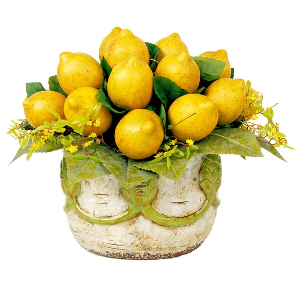 Rustic Lemon Floral Arrangement