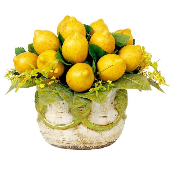 Rustic Lemon Floral Arrangement