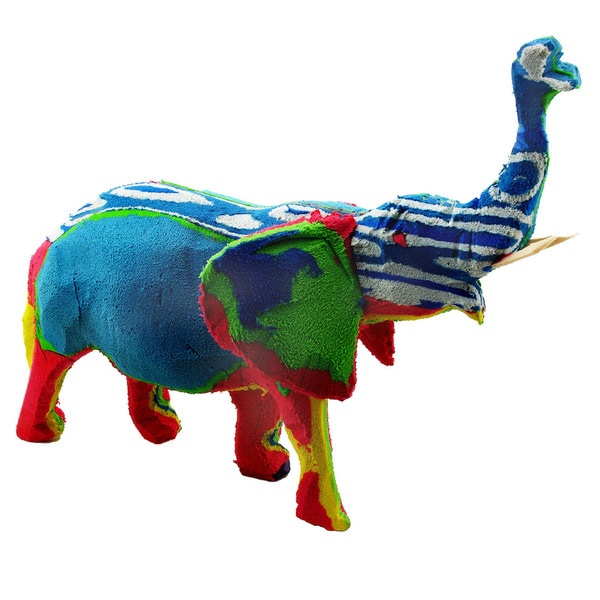 Recycled Flip Flop Rubber Elephant Statue (Kenya)