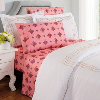 Couture Home Collection Lilliana Floral 1200 Thread Count 4-piece Bed Sheet Set