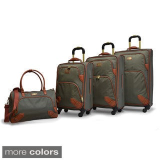Adrienne Vittadini High-density Nylon 4-piece Expandable Spinner Luggage Set