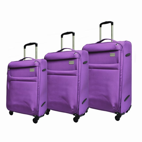 Adrienne Vittadini High Density 3-piece Expandable Spinner Luggage Set