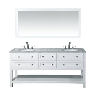 Stufurhome Marla 72-inch Double Sink Bathroom Vanity with Mirror