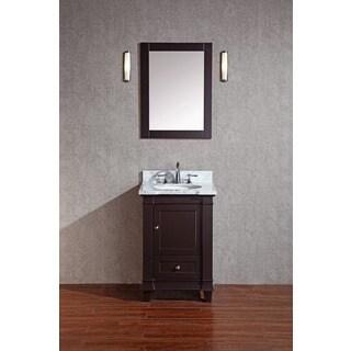 Stufurhome Abigail Espresso 24-inch Single Sink Bathroom Vanity with Mirror