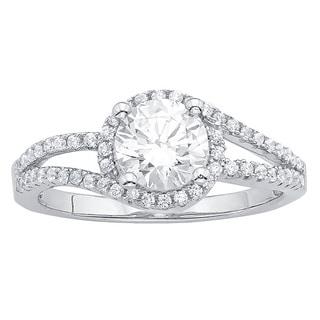 Sterling Silver Swarovski Cubic Zirconia 1/2 Ct TDW Engagement Ring