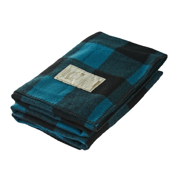 Woolrich Rough Rider Village Blue Throw