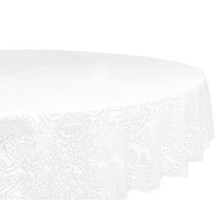 Lace Victorian 63-inch Polyester Round Tablecloth