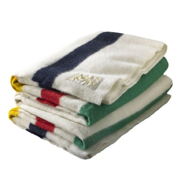 Woolrich Hudson's Bay Multi Wool 4-point Full Size Blanket