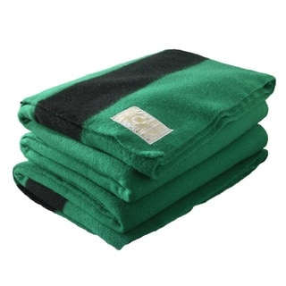 Woolrich Hudson's Bay 6-point Green Queen Blanket