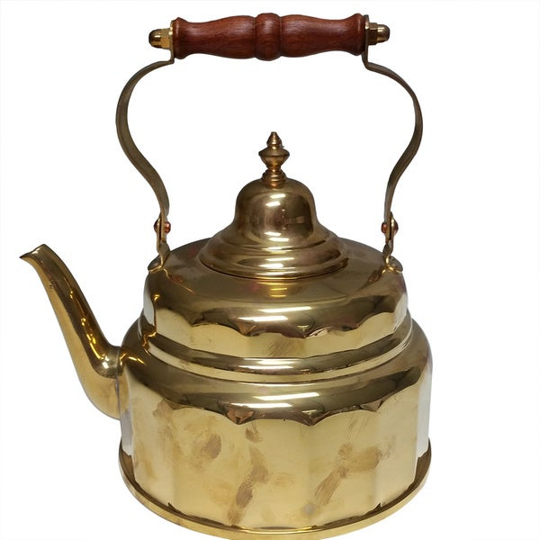 Copper or Brass Tea Kettle - 2 quarts