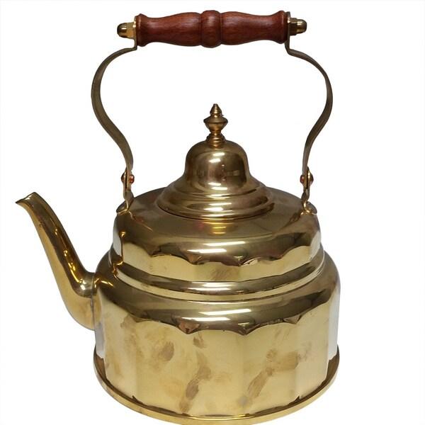 Copper or Brass Tea Kettle - 2 quarts