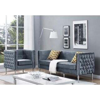 Bryn Grey Velvet Living Room Set