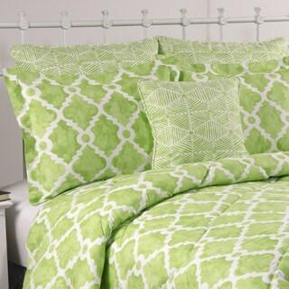 Athena Kiwi Green 4-piece Cotton Comforter Set