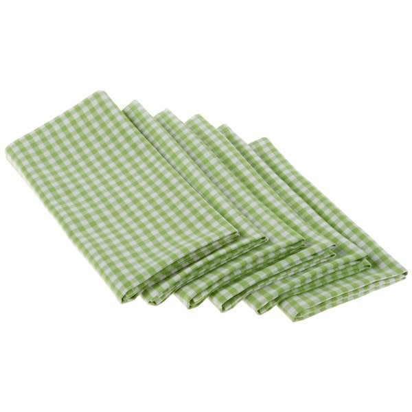 Lime Zest Cotton Check Napkin (Set of 6)