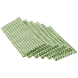 Lime Zest Cotton Check Napkin (Set of 6)