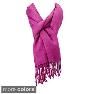 Premium Solid Color Scarf with Tassels