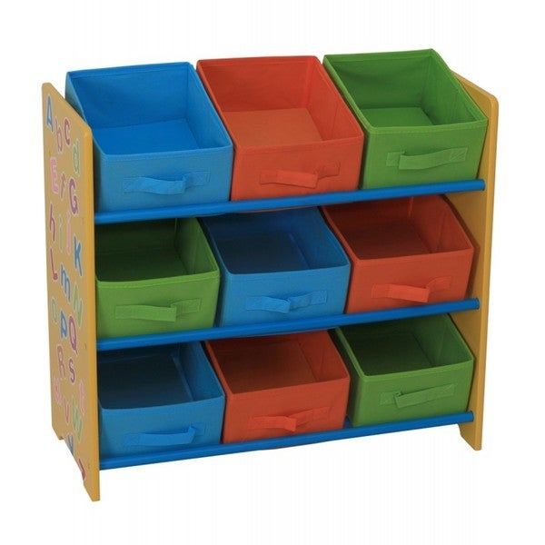 Home Basics Alphabet Design Kids 9-bin Storage Shelf