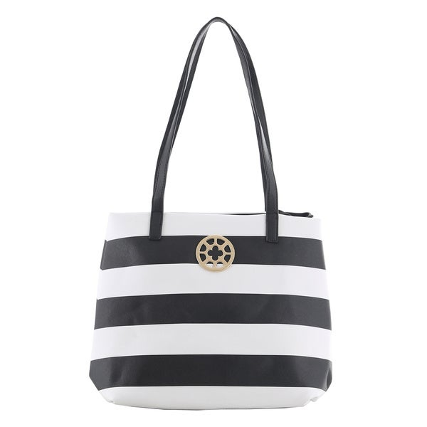 Oasis 'Andra' Striped Tote Bag