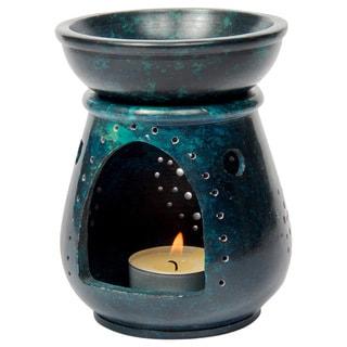 Gorara Stone Teal Jali work Aroma Lamp (India)