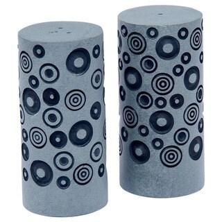 Palewa Stone Black Dots Engraved Salt & Pepper Shaker (India)
