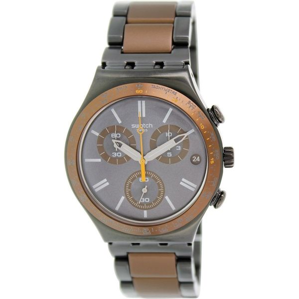 Swatch Men's YCM4007AG 'Irony' Chronograph Two-Tone Stainless Steel Watch