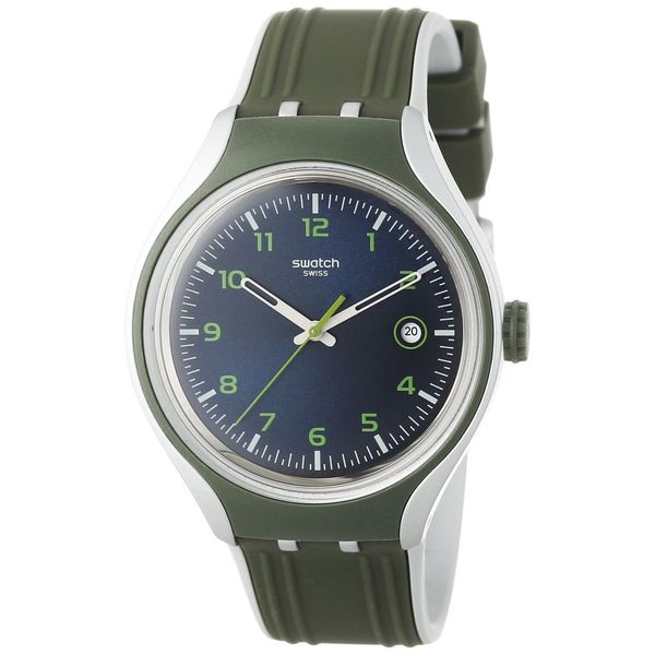 Swatch Men's YES4004 'Irony' Green Silicone Watch
