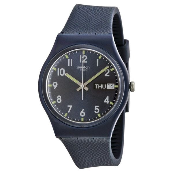 Swatch Unisex GN718 'Original' Blue Silicone Watch