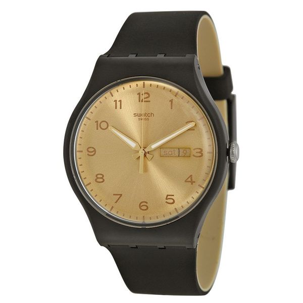 Swatch Unisex SUOB716 'Original' Black Silicone Watch