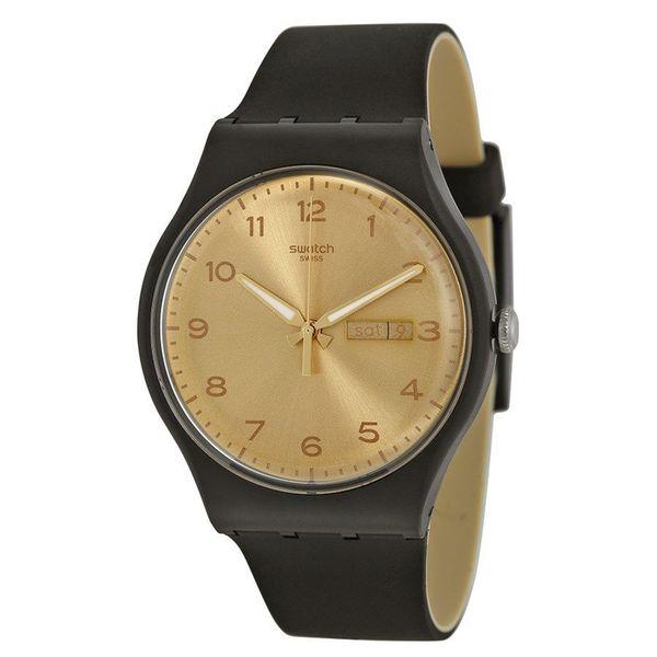 Swatch Unisex SUOB716 'Original' Black Silicone Watch