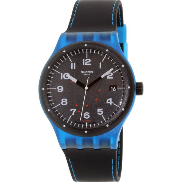 Swatch Unisex SUTS402 'Original' Black Silicone Watch