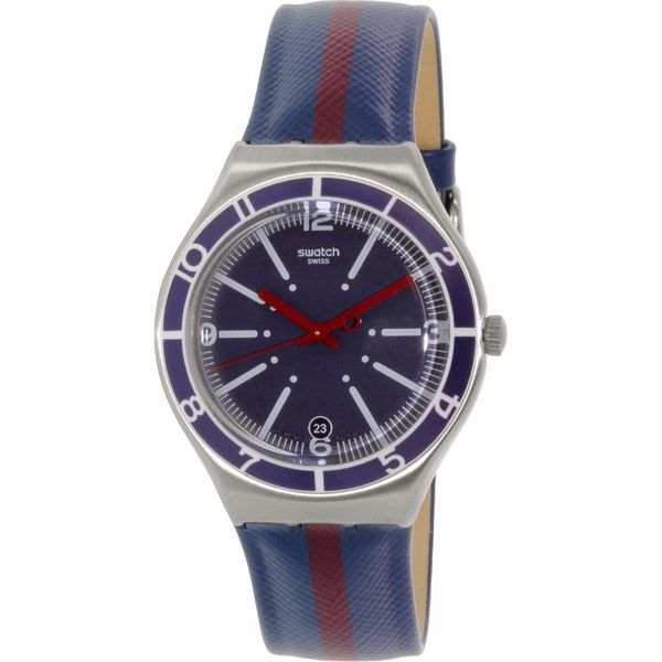 Swatch Men's YGS467 'Irony' Blue Leather Watch