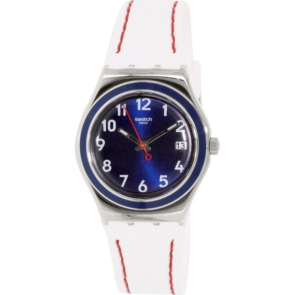 Swatch Women's YLS449 'Irony' White Rubber Watch