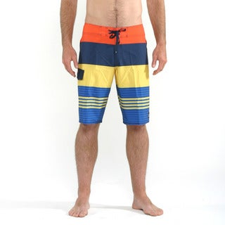 Quicksilver Men's Tri-Colored Clean and Mean Boardshorts