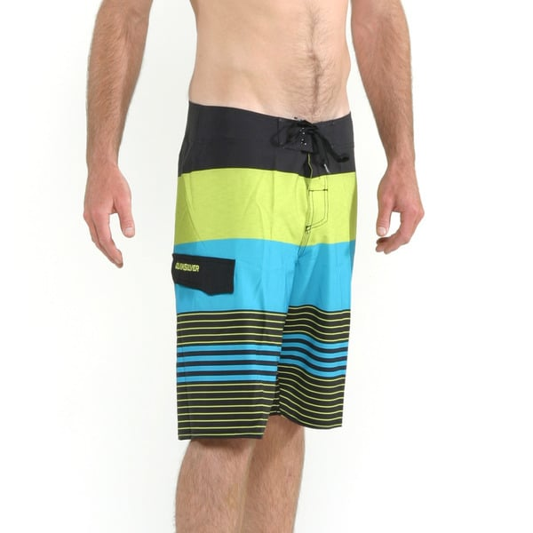 Quicksilver Men's Green and Blue Clean and Mean Boardshorts