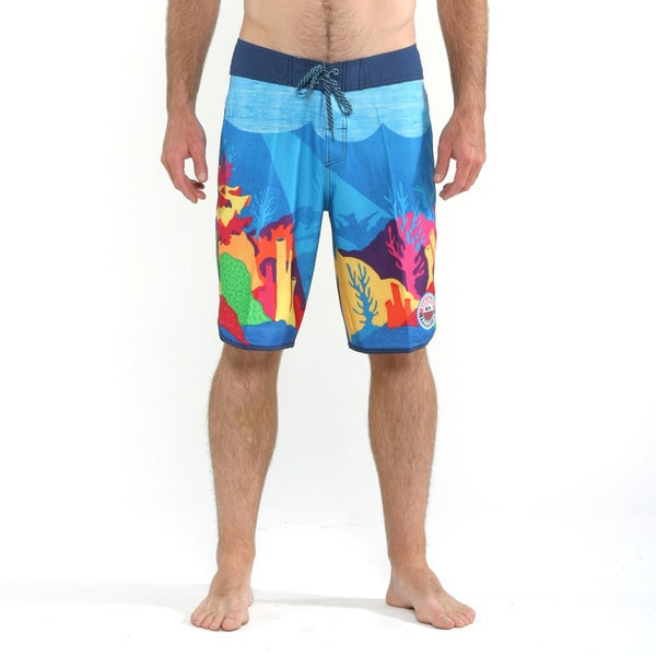 Quicksilver Men's Hawaiian Ocean Check it Boardshorts