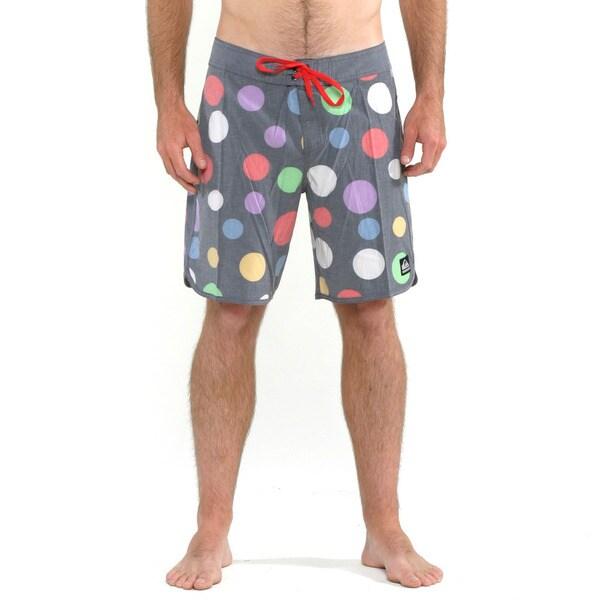 Quicksilver Men's Multi Colored Scallop Print Boardshorts