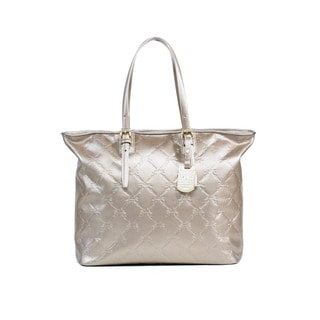 Longchamp Platinum LM Cuir Large Metal Tote