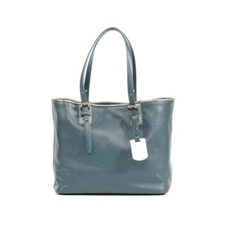 Longchamp Duck Blue LM Cuir Small Shoulder Tote