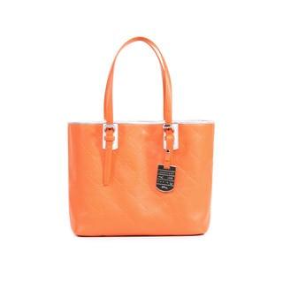 Longchamp Orange LM Cuir Small Shoulder Tote