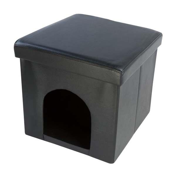 Hodedah Foldable Storage Pet Ottoman