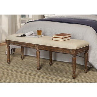 Treasure Trove Accents Freeman Mid Brown Accent Bench